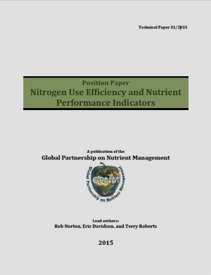 Publication of a Technical paper on Nitrogen Use Efficiency (NUE) and Performance Indicators